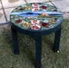 Canal art Coffee Table in Braunston style SOLD