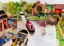 Atherstone basin - watercolours