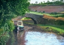 Pencelli Bridge Brecon - acrylics 46cm x 36cm framed
