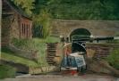 Caldon Canal - watercolours 38cm x 31cm framed
