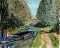 Grand Western Canal - watercolours 30cm x 25cm