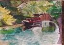 Locks, Market Drayton - watercolours unframed