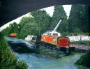 Montgomery Canal - acrylic 28cm x 36cm framed