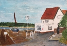 Pin Mill acrylic and watercolours 30cm x 40cm unframed