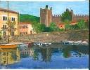 Torre del Benaco - watercolours 28cm x 20cm framed