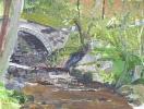 A Welsh stream near Harlech - acrylics 40cm x 30cm unframed
