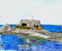 Fort Grey, Guernsey - watercolours 28cm x 20cm unframed