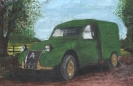 2CV van - watercolours / acrylics on paper unframed