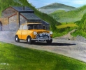 CLASSIC MINI at Monte Carlo - acrylics framed SOLD