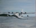Sunderland flying boat - 35cm x 50cm framed SOLD